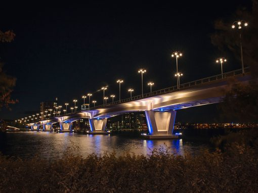 LED Lighting at the Kuokkala Bridge