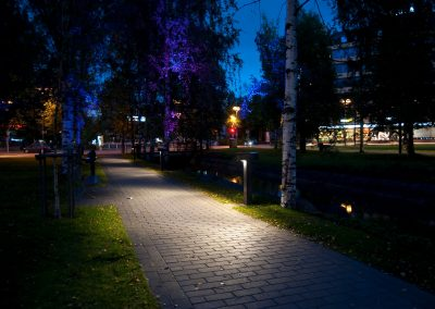 Oulu Otto Karhi park with intelligent lighting control