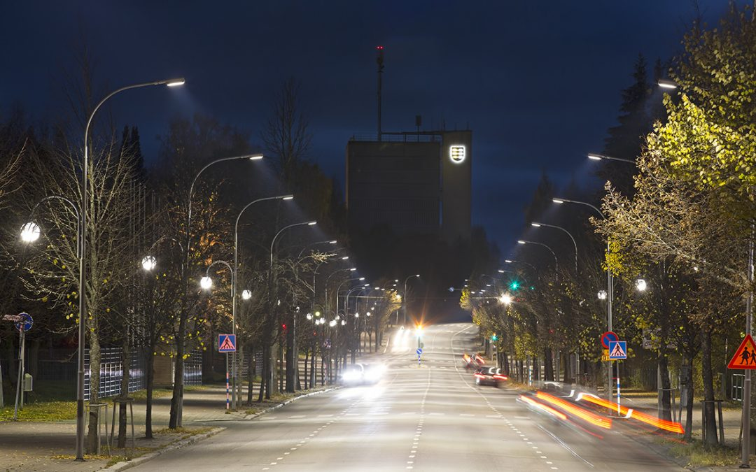 Intelligent LED street lighting in Pieksämäki